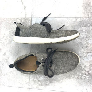 Toms Gray Black Del Ray Lace Up Sneaker Sz 6.5